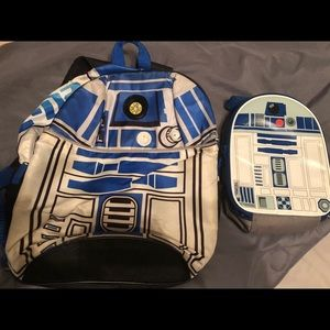 Star Wars R2D2 backpack and lunchbox